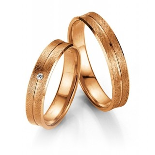 Trauringe 10001 Rotgold 585/- WSI