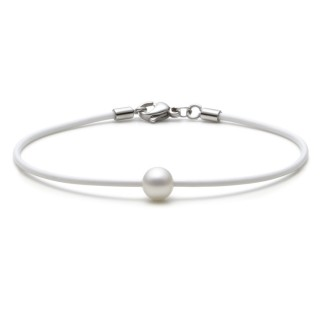 Armband 10005/18 Silikon mit Perle